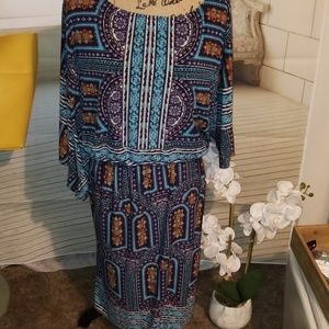 Cato Womans boho dress in EUC